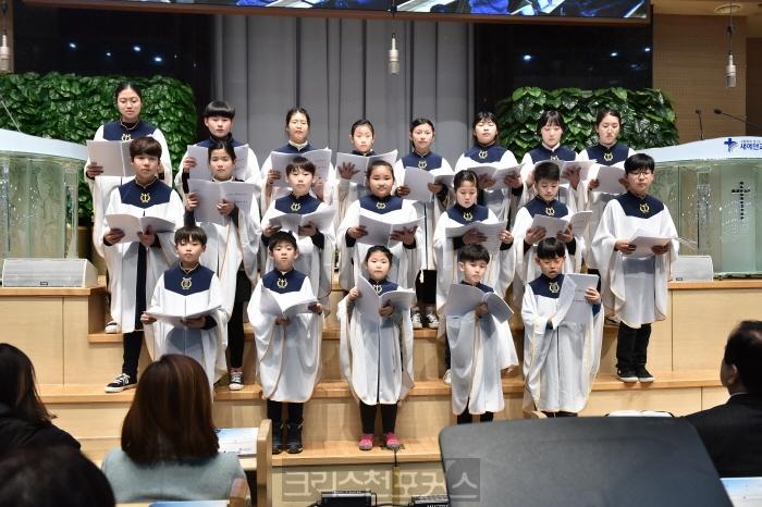 새에덴교회, 제주동산교회 어린이합창단초청 귀감돼
