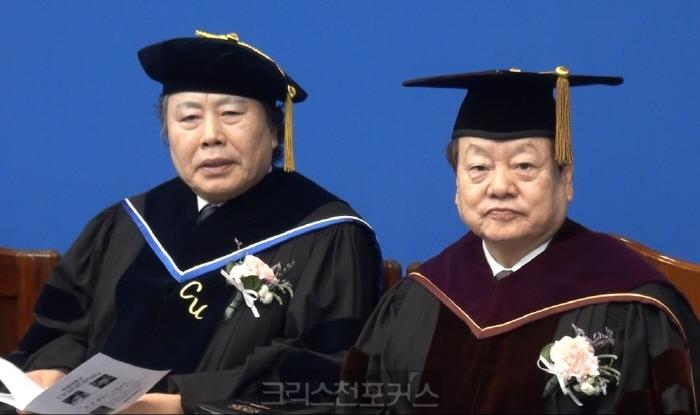 [크포TV] 칼빈대 김진웅 이사장·김근수 총장 취임